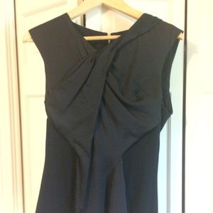 Vince Camuto Silk and Jersey Sleeveless Blouse